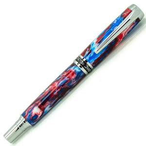 Independence Rollerball/Fountain/Hybrid Pen | Star Sprangled Banner Diamondcast | Chrome