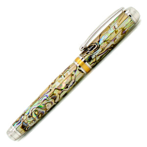 Mistral Rollerball Pen | White Paua Abalone | Rhodium and Gold