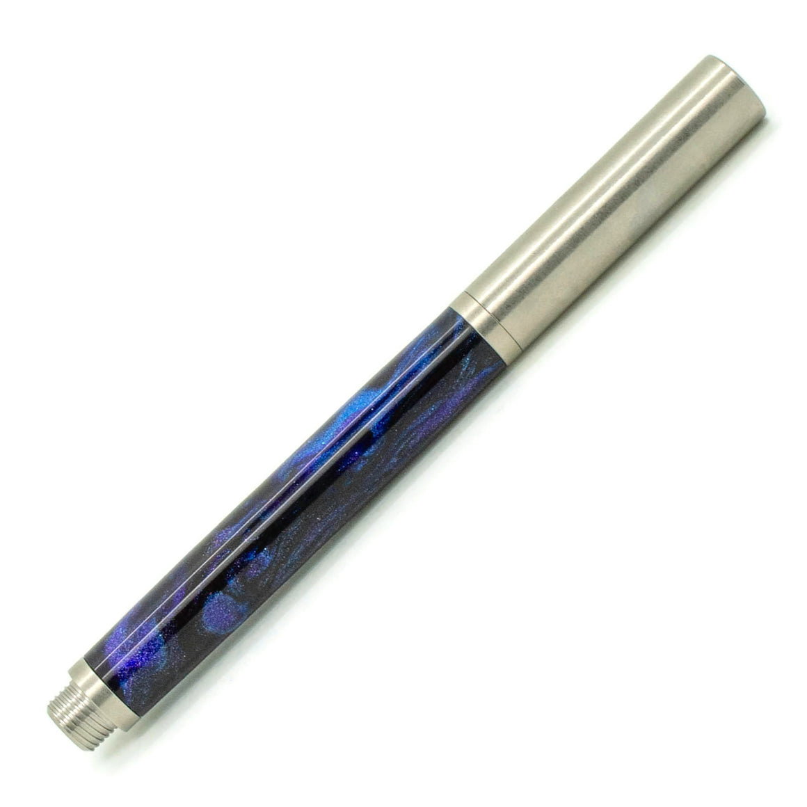RAW Fountain Pen | Dark Andromeda by Diamondcast | Stainless Steel