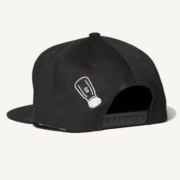 SALTY Snapback Hat In Black - Salty Dames