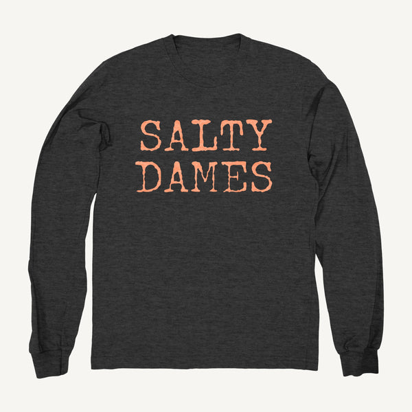 Salty Dames Crew Neck Sweatshirt In Gray - Salty Dames