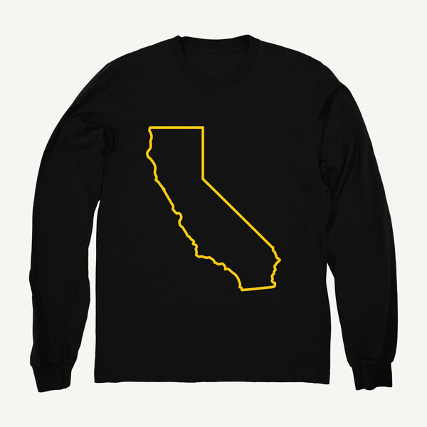 California Sweatshirt In Black & Yellow - Salty Dames