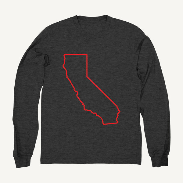 California Sweatshirt In Gray & Red - Salty Dames