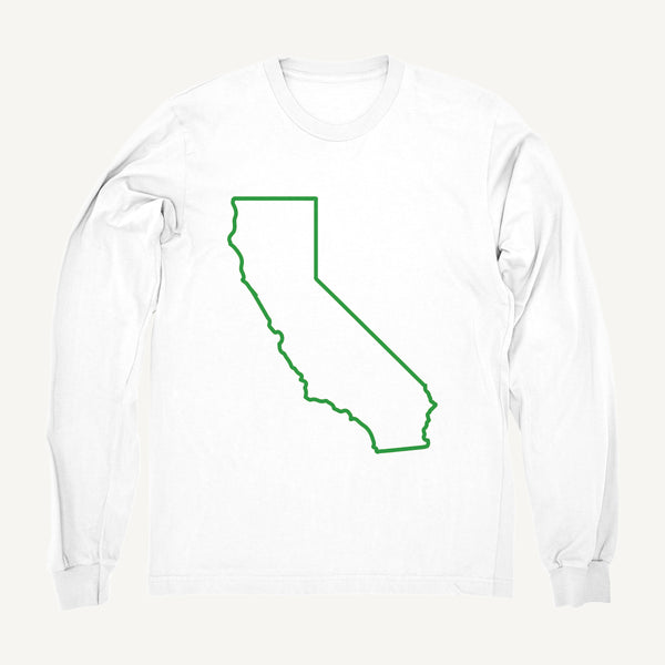 California Sweatshirt In White & Green - Salty Dames