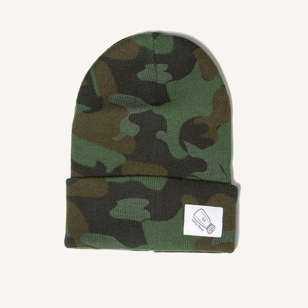 Fold Over Beanie In Camo - Salty Dames