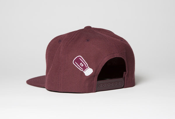 SALTY Snapback In Burgundy - Salty Dames