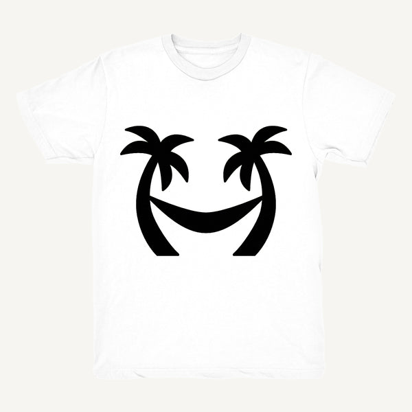 Palm Tree T-Shirt In White & Black - Salty Dames