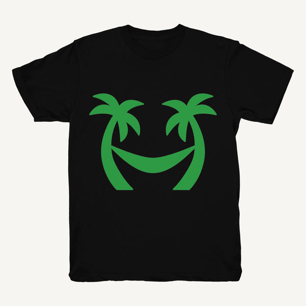 Palm Tree T-Shirt In Black & Green - Salty Dames