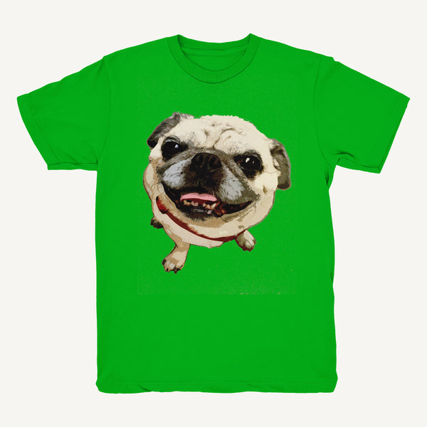 Pug Tee In Green - Salty Dames