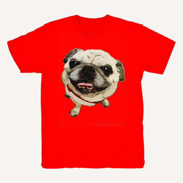 Pug Tee In Red - Salty Dames