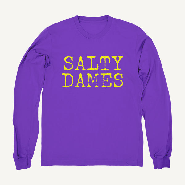 Salty Dames Crew Neck Sweatshirt In Purple - Salty Dames