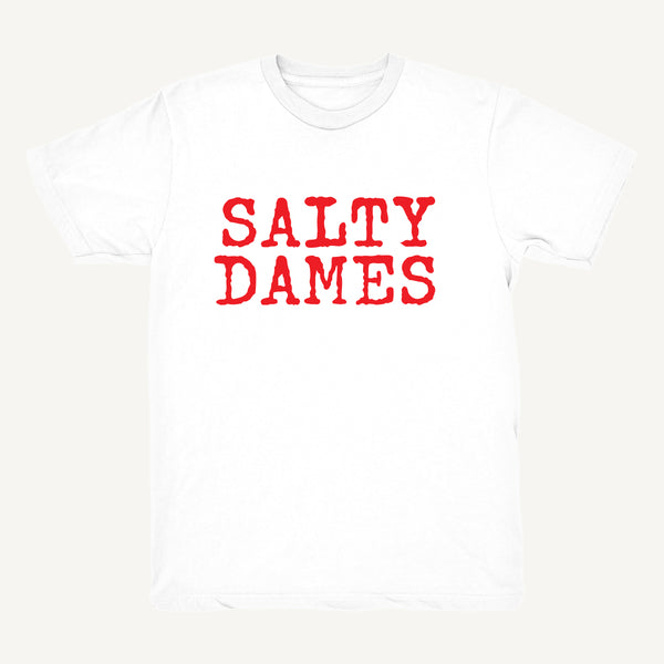 SALTY DAMES T-Shirt In White & Red - Salty Dames