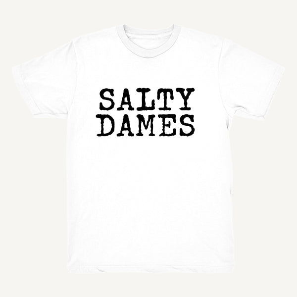 SALTY DAMES T-Shirt In White & Black - Salty Dames