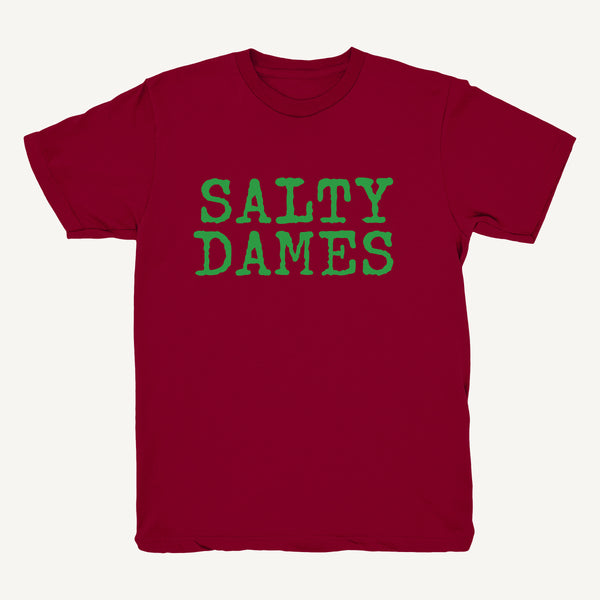 SALTY DAMES T-Shirt In Burgundy & Green - Salty Dames