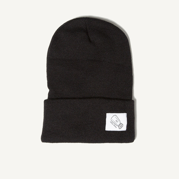 Copy of Fold Over Beanie In Black - Salty Dames