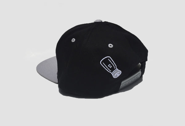 SALTY Snapback Hat In Black/ Gray - Salty Dames