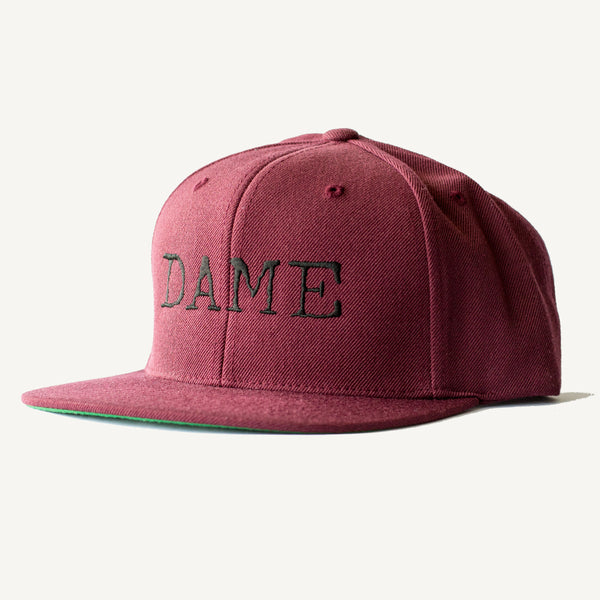 DAME Snapback Hat In Burgundy - Salty Dames