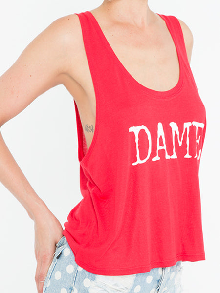 Red DAME Crop Tank - Salty Dames