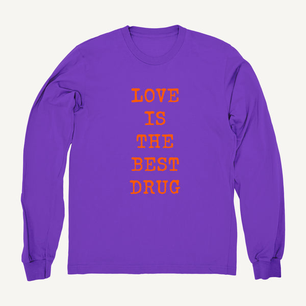 Love Is The Best Drug Sweatshirt In Purple & Bright Orange - Salty Dames