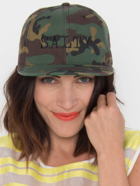 SALTY Snapback In Camo - Salty Dames