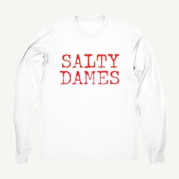 Salty Dames Crew Neck Sweatshirt In White - Salty Dames