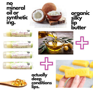 Honey Drop /// Summer Organic Lip Balm Butter for Intense Moisture - Beauty Gift - Green + Lovely