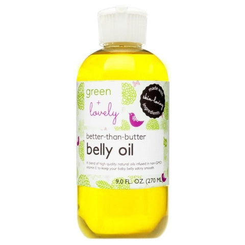 Better than Butter Belly Oil, Pregnancy Oil. Organic ingredients. Nourishing. Vitamin E infused. Stretch Mark Prevention. - Green + Lovely  - 1
