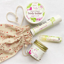 Load image into Gallery viewer, Holiday Skin Care Set - Printed Muslin Bag