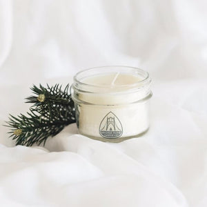 Cypress & Bayberry Candle, Jelly Jar /// Soy Candle