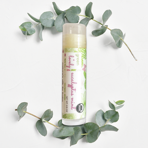 Eucalyptus Mint /// Organic Lip Balm Butter for Intense Moisture