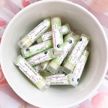 Load image into Gallery viewer, Bulk Organic Lip Balms /// Party Favor, Wedding Favor, Wholesale Lip Balm, Bride to Be Favor, Wedding Gift, Goodie Bag, Fun Gift
