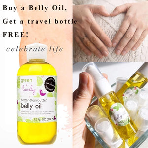 PROMO:  Belly Oil + Travel Bottle