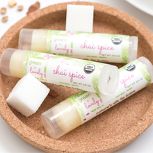Load image into Gallery viewer, Chai Spice /// Set of 3, Organic Lip Balm Butter for Intense Moisture - Beauty Gift - Green + Lovely