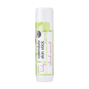 Island Coconut Skin Stick - Organic Moisture Stick - Travel Size - Green + Lovely