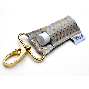 Lip Balm Keychain {Grey Gold Dots} + Lip Balm Sets - Green + Lovely