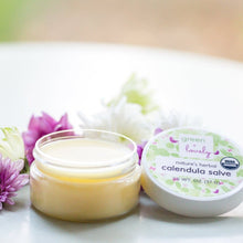 Load image into Gallery viewer, Nature's Herbal Calendula Salve, Lavender Chamomile - Eczema Cream - Multi-use Skin Cream, 2 oz - Green + Lovely