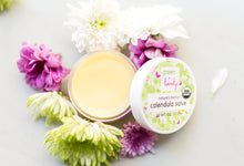 Load image into Gallery viewer, Nature's Herbal Calendula Salve, Organic - Eczema Cream - Multi-use Skin Cream, 2 oz - Green + Lovely