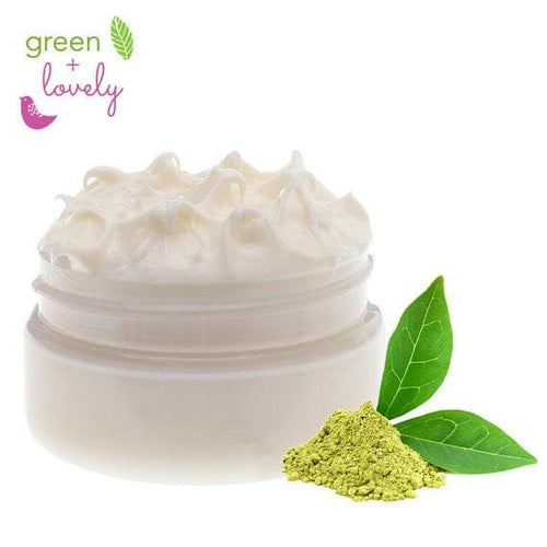 GREEN TEA Face Cream, Lotion - Anti-aging and Acne prone skin - Green + Lovely