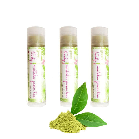 Matcha Green Tea Nature's Silk {Organic} Lip Balm. Shea Butter Lip Butter. Dewy. Summertime. Anti-oxidant rich. - Green + Lovely