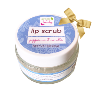 PEPPERMINT VANILLA Lip Scrub - Organic Lip Treat