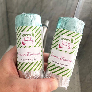 Shower Steamers /// Cold and Sinus Relief. Natural Menthol Vapors. - Green + Lovely