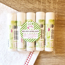 Load image into Gallery viewer, VARIETY PACK Calendula Skin Sticks - Organic Lotion Stick for Dry Skin - Green + Lovely