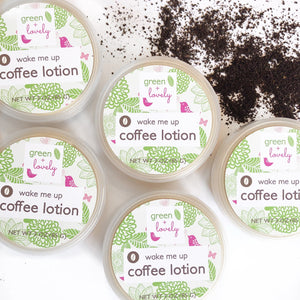Wake Me Up Coffee Lotion /// Under Eye Cream + Body Lotion - Green + Lovely