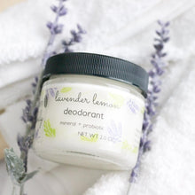 Load image into Gallery viewer, DEODORANT Lavender Lemon - Mineral + Probiotic - Vegan - Green + Lovely