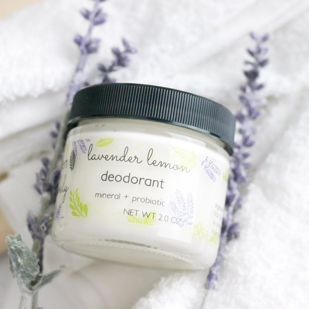 DEODORANT Lavender Lemon - Mineral + Probiotic - Vegan - Green + Lovely
