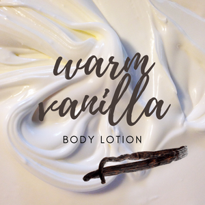 Warm Vanilla Lotion / Organic Body Cream - 4 oz - Green + Lovely