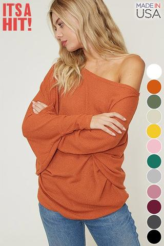 STEAL OF THE DAY-Rust Sold-Out Dolman