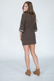 The Detailed Trim Sweater Dress