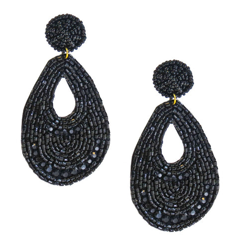 Black Panne Earrings