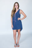 Navy Purple Dress